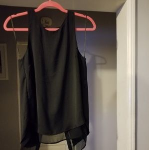 H&m sleeveless black shirt